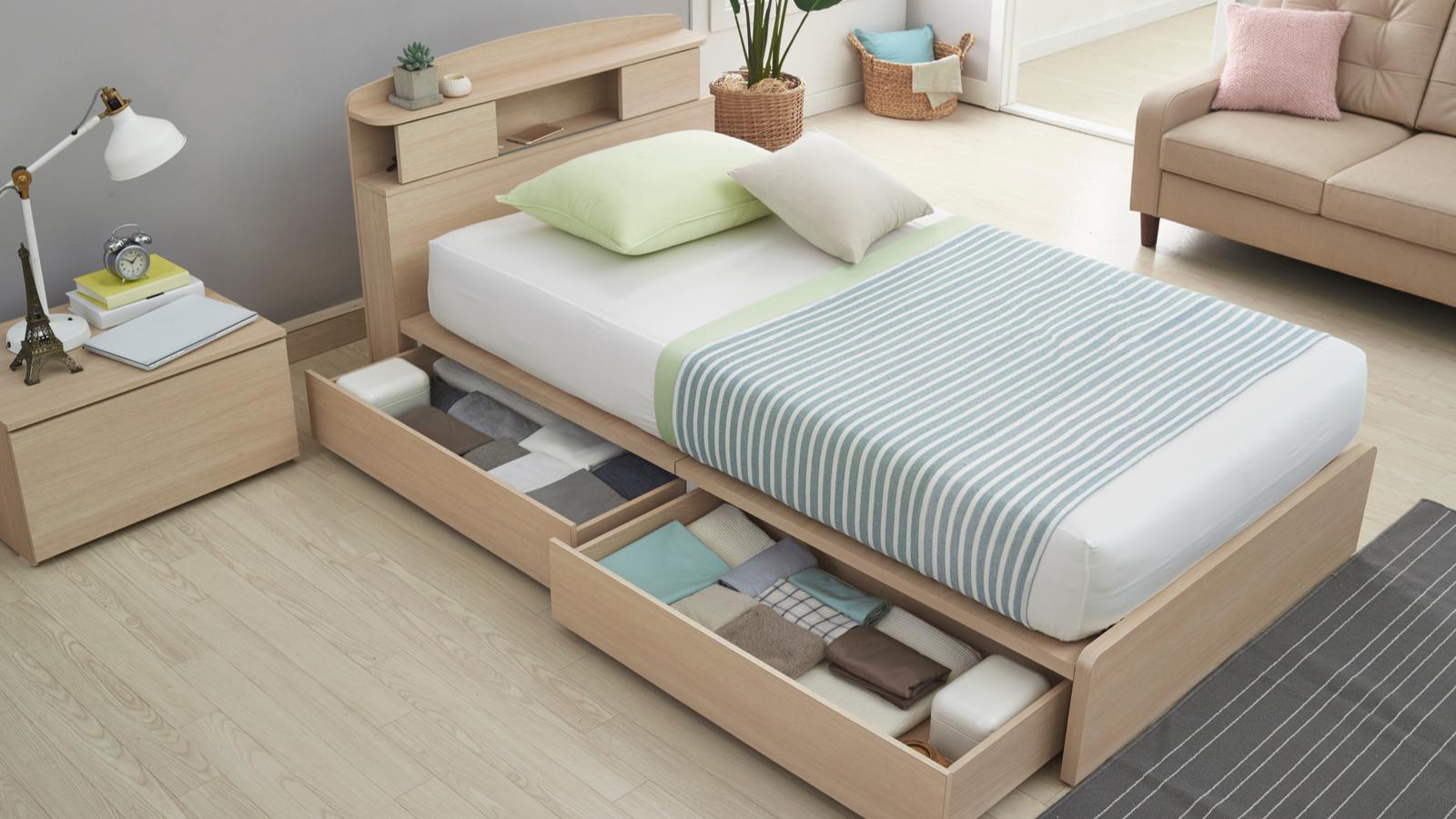 シングルベッド 収納付き